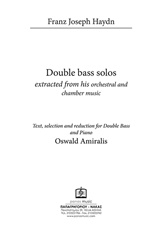 Double Bass Solos Extracted from his Orchestral and Chamber Music